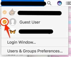 mac macbook guest user accounts