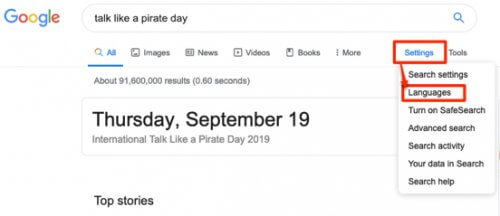 make google talk like a pirate