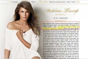 What the Melania Trump Website Looked Like and Said Before it was Taken Down