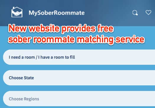 New Free Website Helps People in Recovery find Sober Roommates