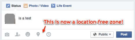 no more location tag on facebook