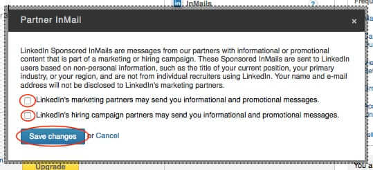 opt out of linkedin spam