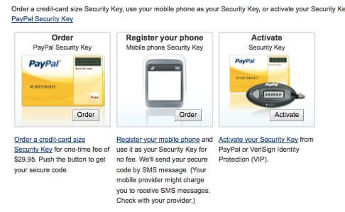 paypal two-factor authentication