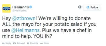 potato salad kickstarter hellmans offers to donate mayo