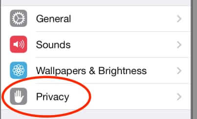 privacy settings iphone