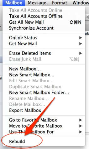 rebuild mac mail folder