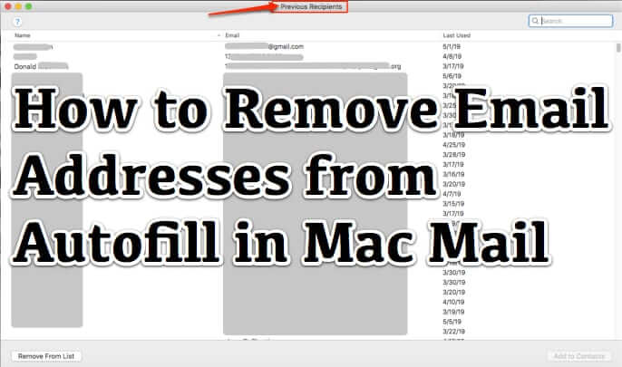 How to Remove Email Addresses from Autofill in Mac Mail Program