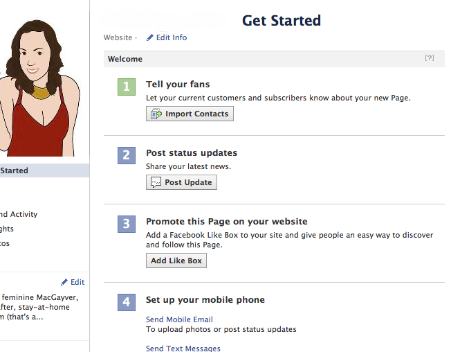 "The Facebook ""Get Started"" Tab"