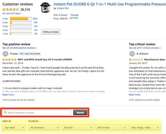 How to Search for and Find a Specific Amazon Review