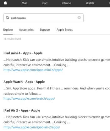 searching itunes store online results through apple