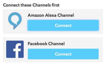 sign into channels Amazon Echo IFTTT recipe