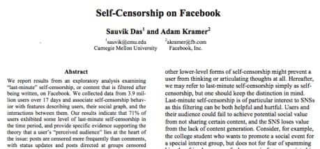 facebook self censorship study