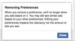 removing ads on facebook