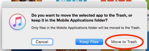 how to permanently delete apps iphone mac