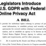 Legislators Introduce U.S. GDPR with Federal Online Privacy Act