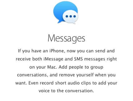 sms text messages to imessage