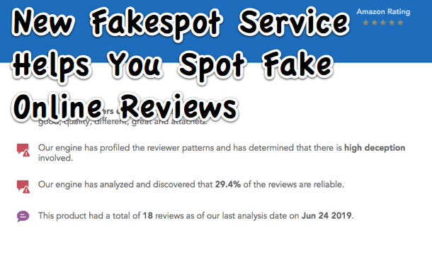 spot detect fake online reviews with fakespot