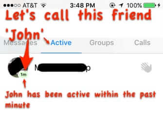 stalk friends online facebook status messenger