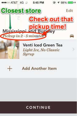 starbucks mobile order and pay closest store