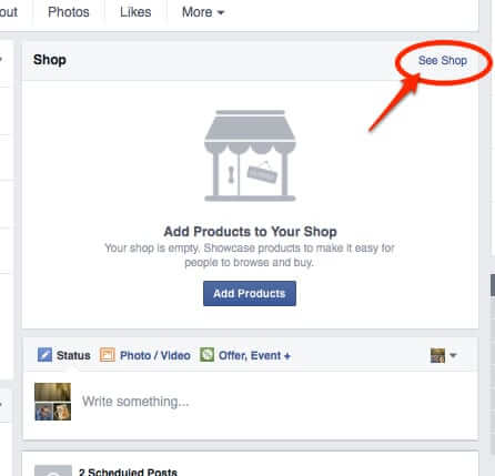 step 1 how to delete facebook shop from facebook page