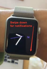 swipe down on apple watch for notifications