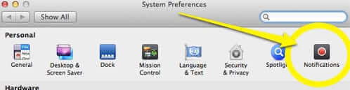system preferences notifications