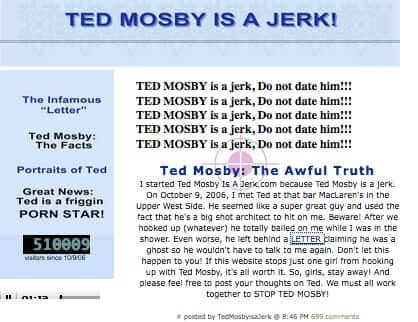 ted mosby is a jerk.com