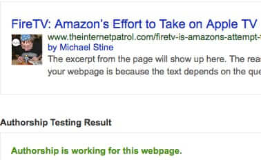 test if google authorship is working mike