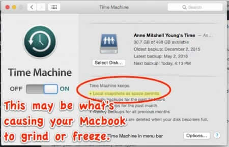 Macbook Grinding Away, Freezing, Super Slow, or Out of Space? Mobile Backups May be the Culprit