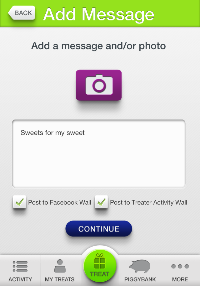 New iPhone and Android App Treater Allows You to Send Treats to Your Facebook Friends