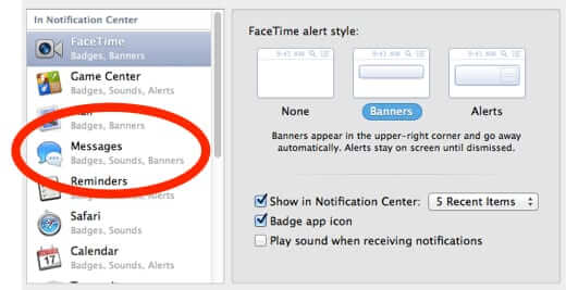 turn off imessage alerts