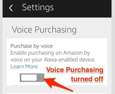 turn off voice purchasing amazon echo alexa