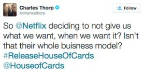 House of Cards tweet