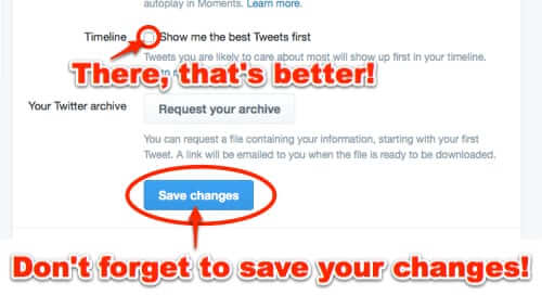 How to Change Your Twitter Timeline Back to Chronological Order