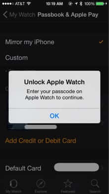 unlock apple awatch