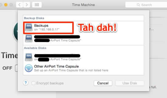 use time machine to back one mac to second mac-1