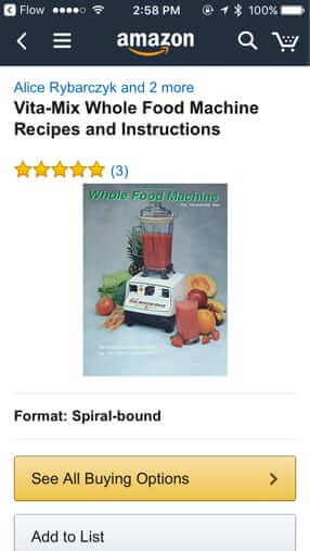 Thought someone was blocked on facebook think again as facebook vitamix book on amazon fandeluxe Image collections