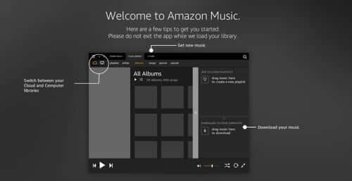 welcome to amazon music app