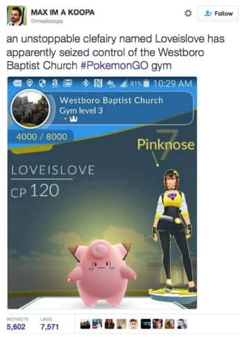 westboro baptist church pokemon gym