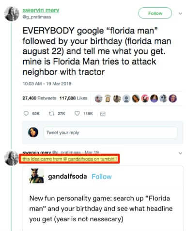 where the florida man challenge came from