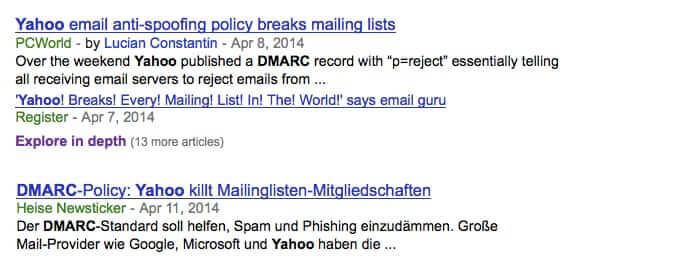 yahoo kills mailing lists with dmarc