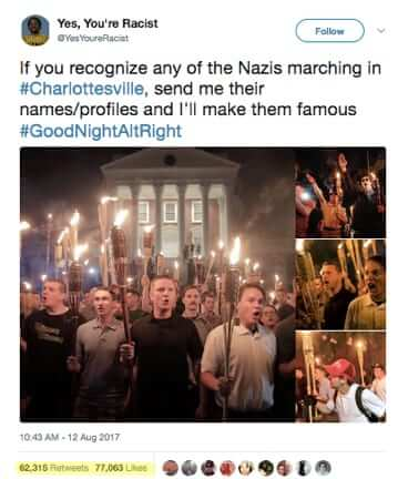 yes youre racist if you recognize any of the nazis marching