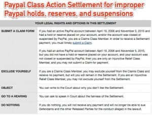 You May be Owed Money from Paypal in Class Action Settlement for Improper Holds, Reserves, and Suspension of Paypal Accounts